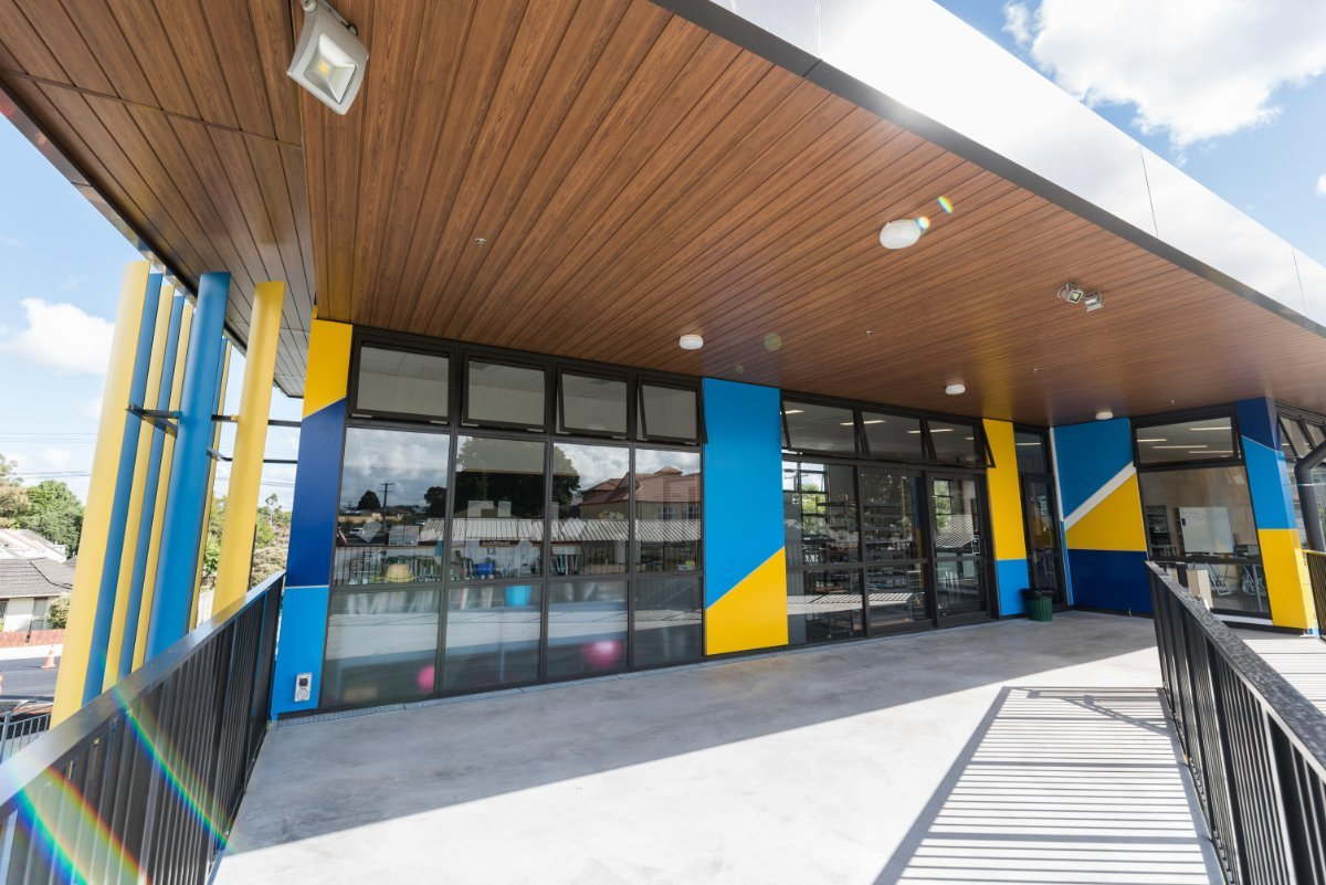 Whangarei Girls High School showing Starke 40mm and commercial aluminium joinery